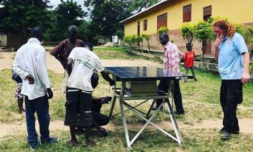 Installation of CHARGE Station Obosono Village Ghana