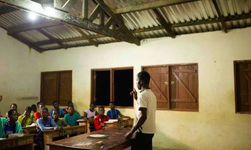 Lighting for schools Obosono Village Ghana