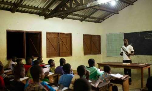 School enjoys light for nighgt time classes via POWER KUBE
